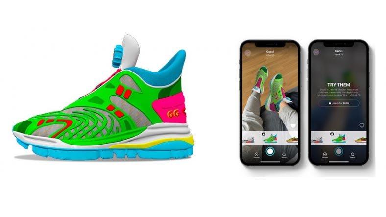 Gucci'nin 12 Dolara Sattığı Fakat Hiçbir Zaman Giyemeyeceğiniz 'Sanal' Spor Ayakkabı